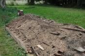 Podniesione grządki - hugelkultur - budowa